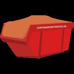 Gebroken puin - 10 m³ container