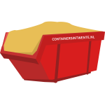 Ophoogzand in een 10 m³ container